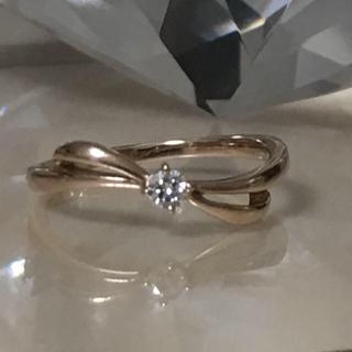 4℃ - カナル4℃  K18 ピンクゴールド ダイヤモンドリング