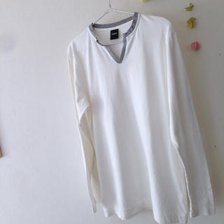 シップス(SHIPS)のSHIPS シンプルカットソー メンズ L(Tシャツ/カットソー(七分/長袖))