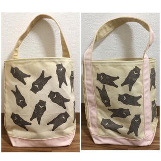 TEMBEA テンベア BAGUETTE TOTE くま柄 ピンク(トートバッグ)