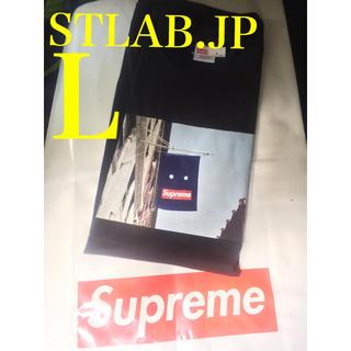 Supreme - 黒 L 19AW Supreme Banner Tee バナーT