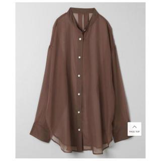 ジーナシス(JEANASIS)のJEANASIS シアーバンドカラーシャツ(シャツ/ブラウス(長袖/七分))