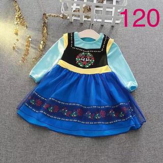 ディズニー プリンセス コスチューム なりきり ワンピース ドレス アナ 120(ワンピース)