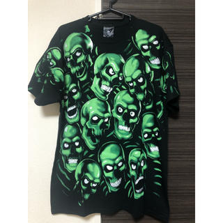 Supreme - M:Skull Pile Black×Green スカル カットソー