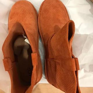 アグ(UGG)のアグ UGG 23センチ スウェードブーツ オレンジ 新品未使用(ブーツ)