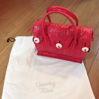 GRACE CONTINENTAL - 【美品】グレースコンチネンタル カービングバッグ ピンク