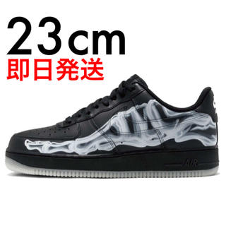 NIKE - 23cm AIR FORCE 1 LOW BLACK SKELETON