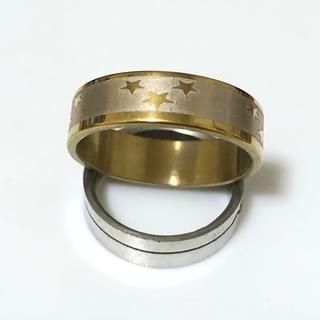 同時購入で300円ステンレス指輪 三つ星(リング(指輪))