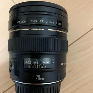 Canon - canon lens ef20mm 1:2.8 ultrasonic保護カバー付