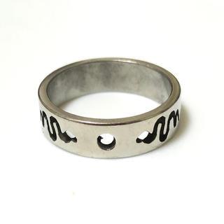 同時購入で300円ステンレス指輪ダブル ヘビ(リング(指輪))
