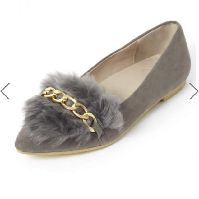 GRL(グレイル)のグレイル 23cm チェーン付きスエードエコファーパンプス レディースの靴/シューズ(ハイヒール/パンプス)の商品写真
