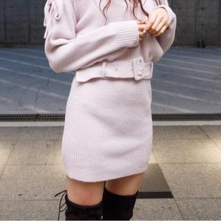 LIP SERVICE - 新品 ショートフェザーリブニットスカート