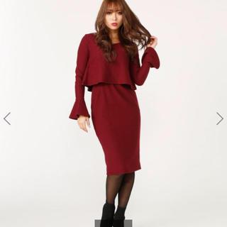 rienda - リエンダ 定価7020円 ハートネックフレアワンピース