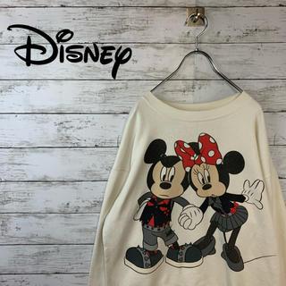 Disney - 【キャラクタープリント】ディズニー スウェット ミッキー ミニー ホワイト 白