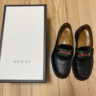 Gucci - グッチ ウェブ ホースビット レザーローファー