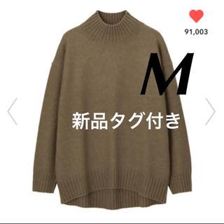 GU - GU✨新品タグ付き❣️オーバーサイズハイネックニットチュニック ブラウン M