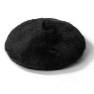 GRL - グレイル アンゴラベレー帽 ブラック