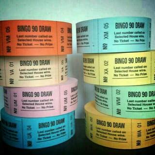 英 BINGO DRAWチケット 80枚(印刷物)