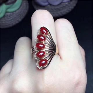【高級】赤珊瑚リング 3.6g k18 ダイヤ(リング(指輪))