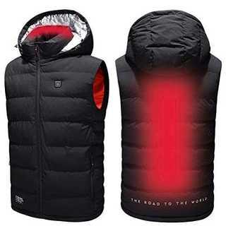 ブラック2XL電熱ベスト ヒーターベスト 電熱ウェア 加熱ベスト 電熱ジャケット