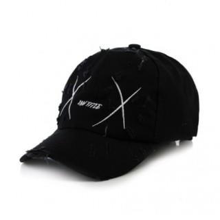 Xuntutle X ロゴ 刺繍  ローキャップ  ブラック