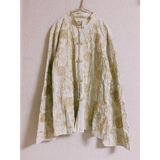 処分の為最終値下げvintage embroidery china blouse