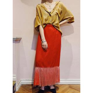 Lochie - vintage フリンジタイトスカート