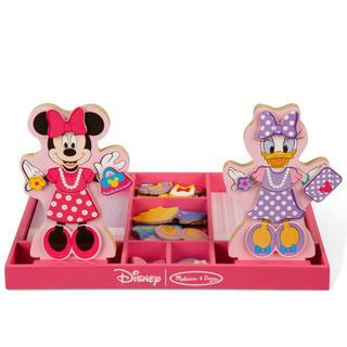 Disney - メリッサ&ダグ ミニー&デイジー ウッドパズル 着せ替え