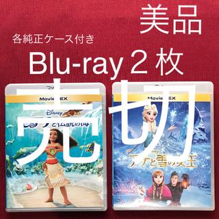Disney - アナと雪の女王 モアナと伝説の海 美品 Blu-ray2枚