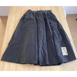 MUJI (無印良品) - 無印良品 洗えるウール ストレッチイージータックスカート Sサイズ グレー