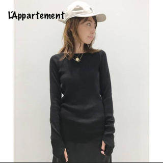 L'Appartement DEUXIEME CLASSE - L'Appartement◇ボートネック Rib Knitブラック