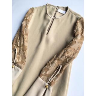 マメ(mame)のmame 刺繍 ジャガード ドレス ワンピース マメ sacai marni (ロングワンピース/マキシワンピース)