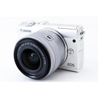 Canon - ☆自撮りしてその場でスマホに転送☆キャノン EOS M100 ホワイト