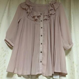axes femme - 新品/タグ付き☆axes  femme☆フリルレース☆ピンク色の七分袖ブラウス