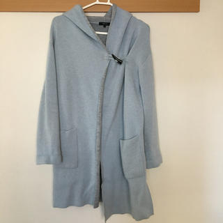 コムサイズム(COMME CA ISM)のコムサイズム ロングコート アウター ジャケット ファー 毛 羽織り 冬(ロングコート)