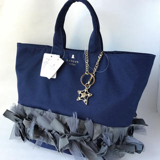 ランバンオンブルー(LANVIN en Bleu)の新品★ランバンオンブルー レピック トートバッグ ネイビー 紺 ハンドバッグ(トートバッグ)