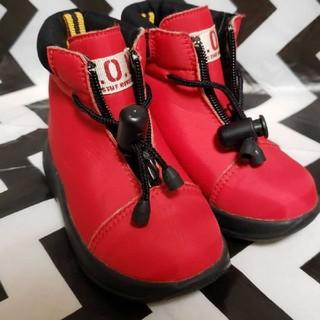 ベベ(BeBe)の赤ブーツ13.5(ブーツ)