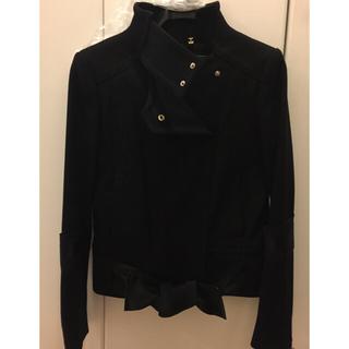 グッチ(Gucci)の美品 グッチ ジャケット コート 38 ブラック(テーラードジャケット)