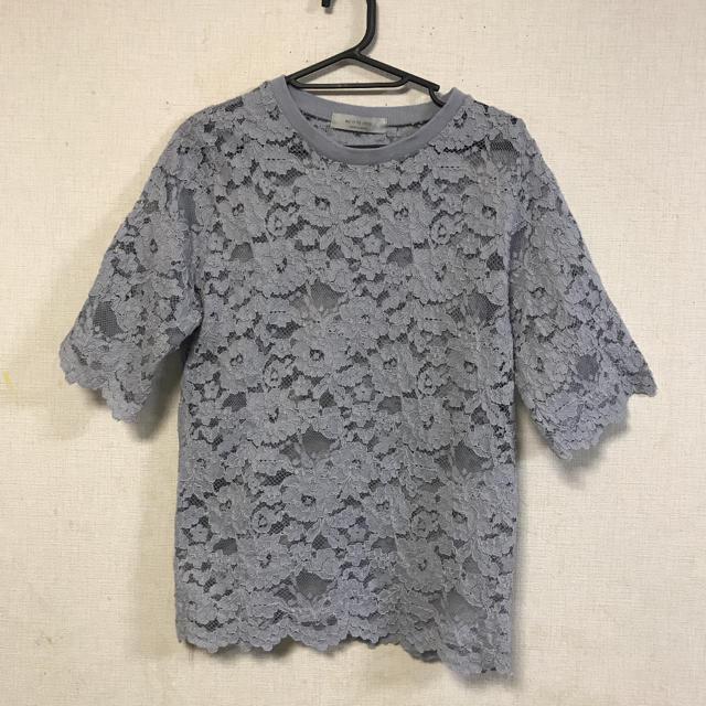 dholic(ディーホリック)のeuiinbychris☆レース編みデザインカットソー レディースのトップス(カットソー(半袖/袖なし))の商品写真