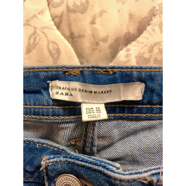 ZARA(ザラ)の値下げ中!ZARAフリンジデニム レディースのパンツ(デニム/ジーンズ)の商品写真