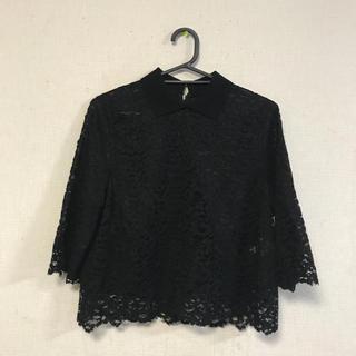 LE CIEL BLEU - 美品☆le ciel bleu☆レース編みデザインシャツ