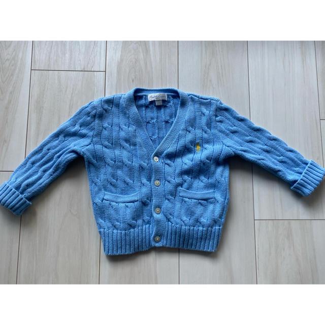 Ralph Lauren(ラルフローレン)のラルフローレン ニットカーディガン セーター ブルー キッズ/ベビー/マタニティのキッズ服 男の子用(90cm~)(カーディガン)の商品写真