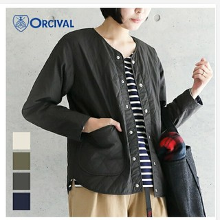 オーシバル(ORCIVAL)のORCIVALキルトカラーレスジャケット(ノーカラージャケット)