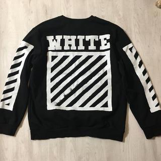 オフホワイト トレーナー 美品 off-white 黒 ブラック