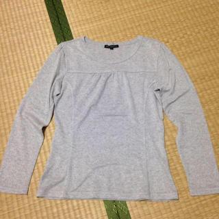 ニジュウサンク(23区)の23区 グレーラメ ロングシャツ(Tシャツ(長袖/七分))