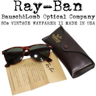 レイバン(Ray-Ban)の美品★Ray Ban★レイバン★サングラス★WAYFARER★B&L★USA製(サングラス/メガネ)