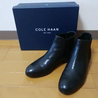 コールハーン(Cole Haan)の美品 コールハーン サイドゴアブーツ ブラック 23.5㎝(ブーツ)