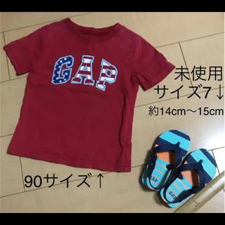 ギャップ(GAP)のGAP   赤色  Tシャツ   ビーチサンダル  セット(サンダル)