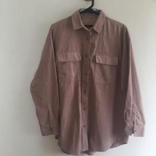 GU - GU コーデュロイオーバーサイズシャツ ピンク
