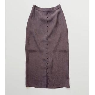 TODAYFUL - todayful フロントボタン サテンスカート