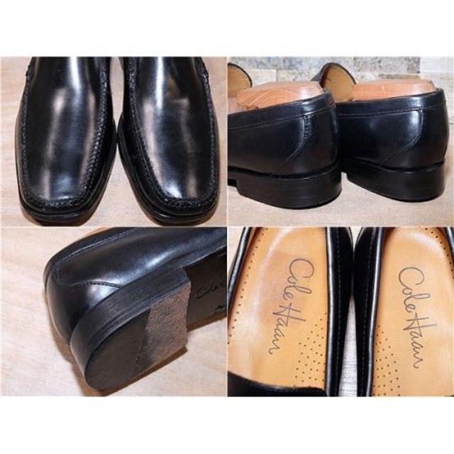 Cole Haan(コールハーン)のコールハーン レザーローファー 黒 25,5cm メンズの靴/シューズ(スリッポン/モカシン)の商品写真